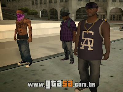 Skins das Gangs Grove e Ballas do GTA 5 para GTA San Andreas